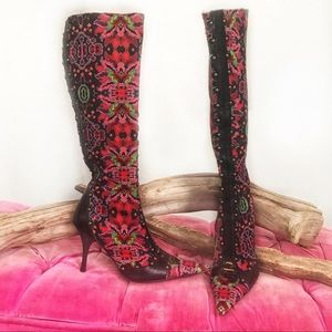 Handcrafted Italian leather Roberto Cavalli boots